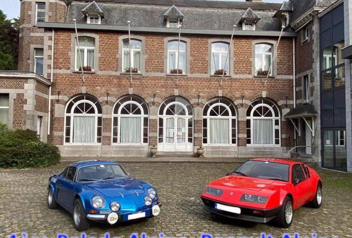 1ère Balade Alpine, Renault Alpine, R5 Turbo et Spider au Château des Fawes à BANNEUX